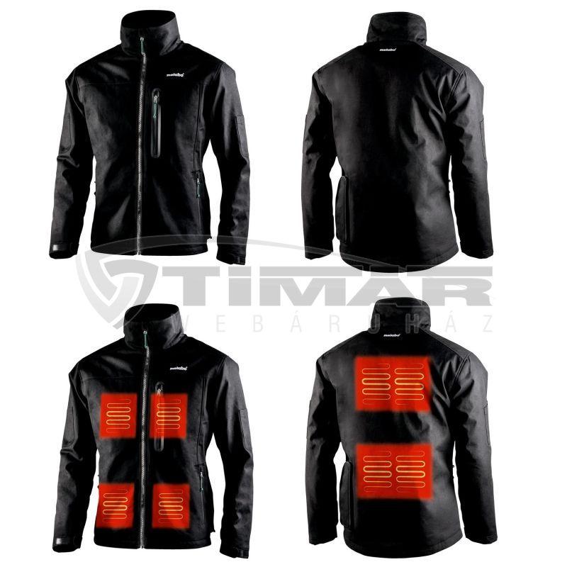 Metabo HJA 14,4-18 Fűthető kabát adapterrel - XXL fekete 657030000